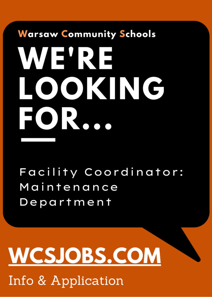 HR/Immediate Opening: Facility Coordinator