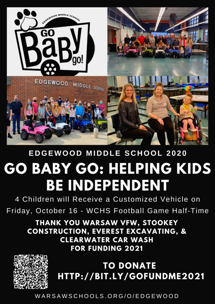 GoBabyGo! Giveaway at WCHS Friday's Football Game