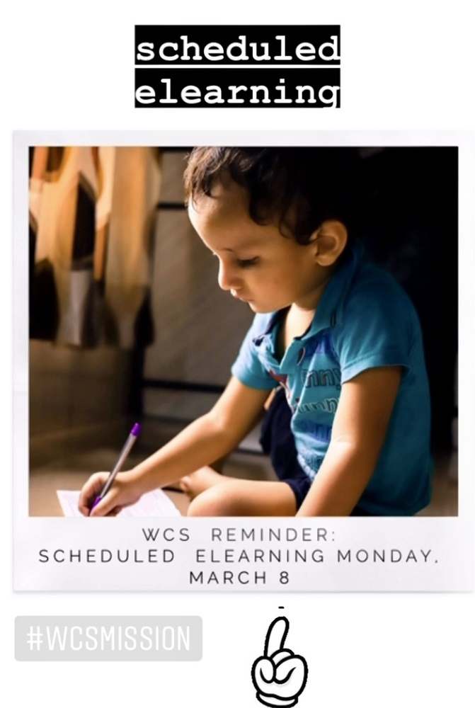 Scheduled eLearning: Monday, March 8