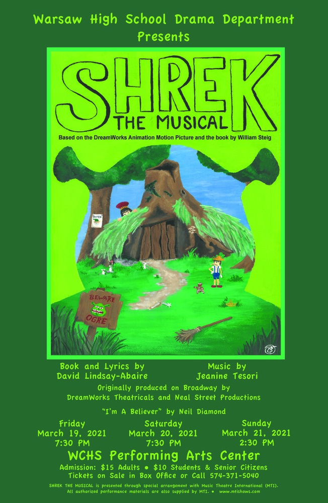 WCHS: Shrek the Musical - Tickets on Sale Now!