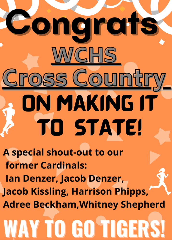 WCHS Cross Country is going to the State Championships!