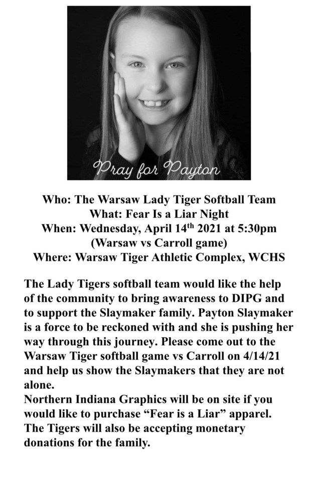 April 14: Support Payton Slaymaker @ WCHS Click to Read More