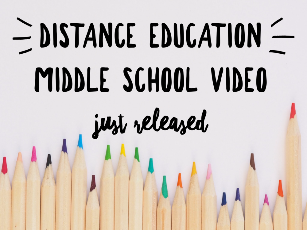 Distance Education: New Video Guidance