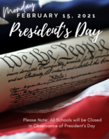 Reminder: Upcoming President's Day