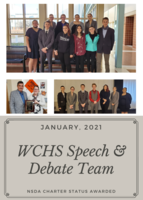 Congratulations! WCHS Speech Students Recognized by NSDA