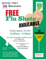 PSA: Free Flu Shot: Jan 10, 2021