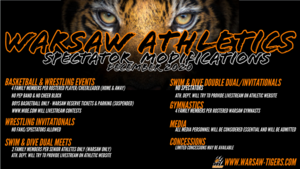 Warsaw Athletics Spectator Modifications: December 2020