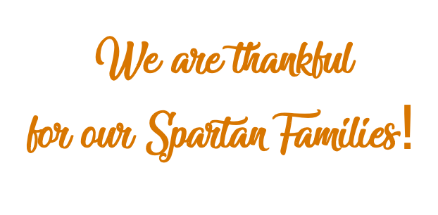 Thankful for Spartan Families