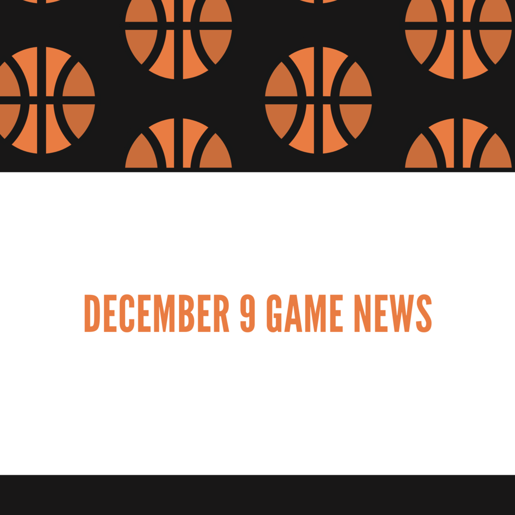 Dec 9 Game News