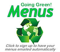 Going Green Email Menu Opt in